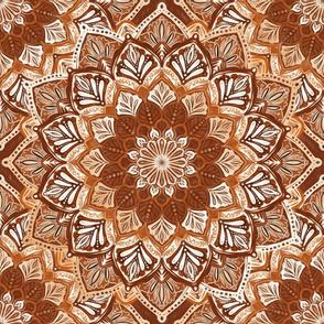 Boho Mandalas in Warm Brown and White