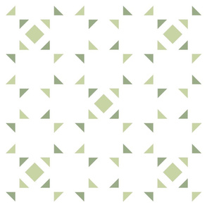 Geometric green and white_098