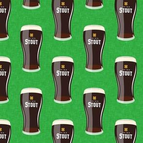Irish stout - dark beer on green - LAD19