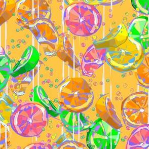 Pop Art Yellow Citrus Fizz | Small