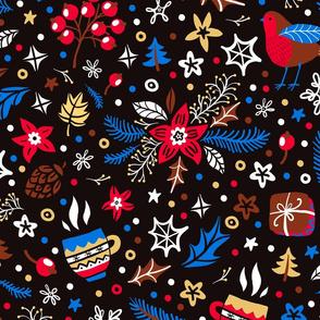Cozy christmas pattern