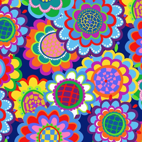 jewel tone mod 70s flowers by lalalamonique