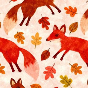 Watercolor Foxes