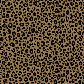 Gold Black - Leopard small