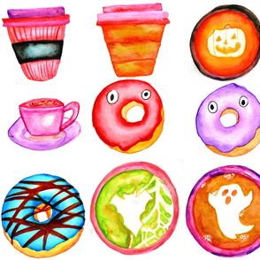 Halloween Coffee _ Donuts - Cream