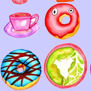 Halloween Coffee & Donuts- Grey