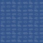 Sea Knots on blue