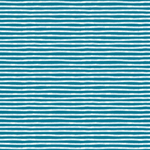 White Stripes on mosaic blue