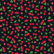 Cherries on pitch BLACK 33%