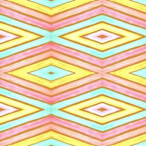 Retro diamond stripes for scarves