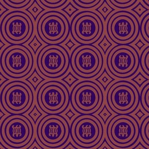 Mauve & Purple Crocodile Adinkra