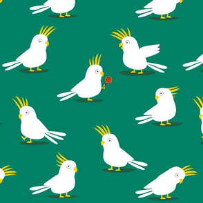 Comic Cockatoos green