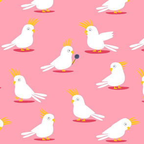 Comic Cockatoos pink
