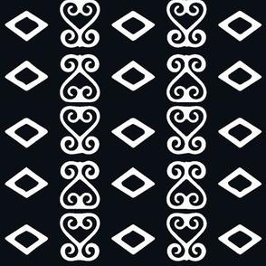 Black & White Sankofa Heart Bold