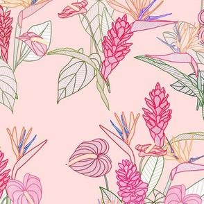 Mixed Flowers Pink (Medium)