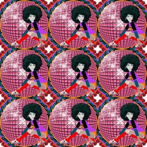 70 disco ball pink with gir 150 dpi