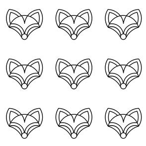 Fox minimal black and white design