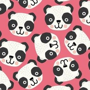 scandi pandas on pink