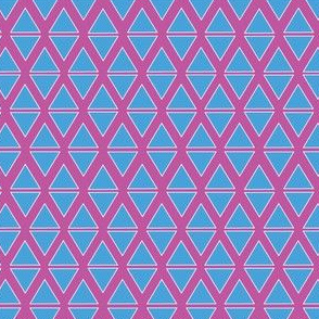 Pink and blue Triangles