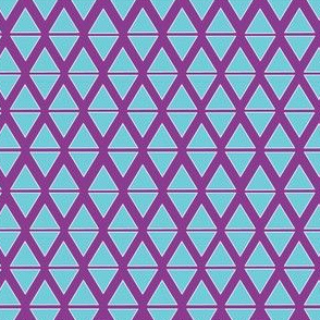 Purple and teal triangles