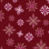 Ruby Red Snowflakes