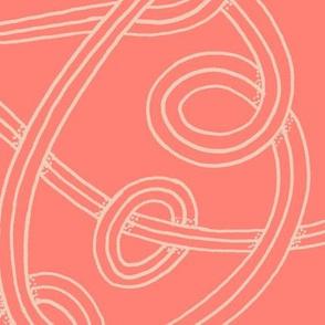 Loop de loops - peach and pink