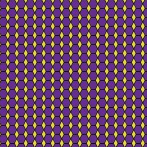 Purple Hexagon and Gold Triangle SMALL