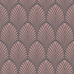 Art Deco Fans blush-grey