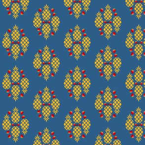 Pineapple Fruit Clusters - Ocean Blue