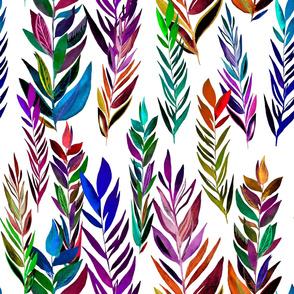 Dark colorful brances