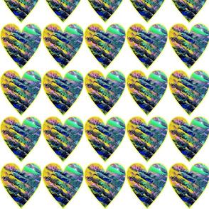Happy Little Trees - Multi Hearts