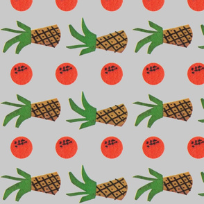 2 Pinapple 3 Orange - Grey - Horizontal