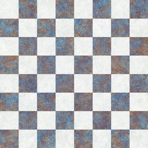 Chess Board Check USCF Rusty Metal 150