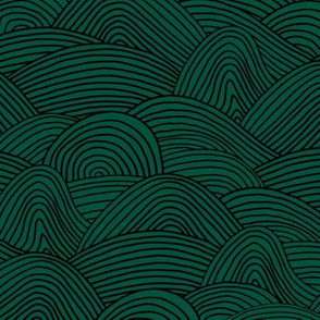 Ocean waves and surf vibes abstract salty water minimal Scandinavian style stripes emerald green winter