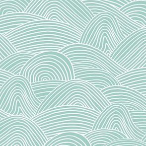 Ocean waves and surf vibes abstract salty water minimal Scandinavian style stripes mint green spring summer