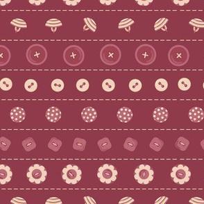 fun claret buttons stripes