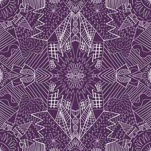 Geometric Pattern No. 01 (Purple)
