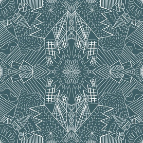 Geometric Pattern No. 01 (Blue-Green)