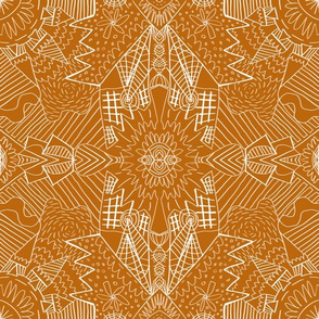 Geometric Pattern No. 01 (Pumpkin)