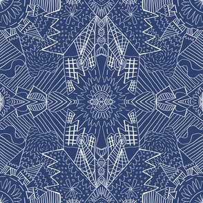 Geometric Pattern No. 01 (Blue)
