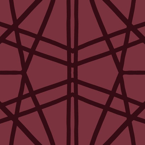 Symmetrical Lines: Red