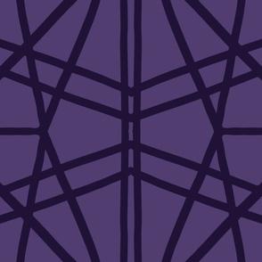 Symmetrical Lines: Purple