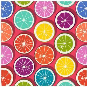 citrus polka pop tulip tea towel