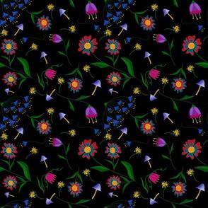 Jeweltone 70's Bright Boho Flowers