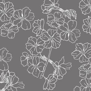blooming branch grey