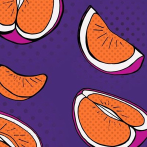 Pop Art Citrus Orange & Purple