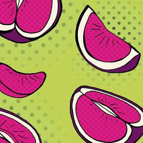Pop Art Citrus Purple & Green