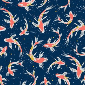 Koi Fishes in the Water / Small Scale