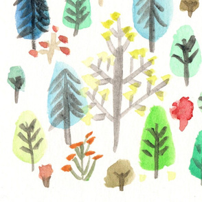 Watercolor Nordic Forrest