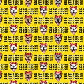 "(3/4"" scale) We can chew it! - Rosie Pit bulls dogs - yellow  - LAD19BS"
